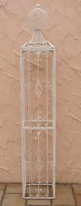 Rankstab Rankhilfe Pfosten Obelisk KENT XXL 225 Weiß – Bild 2