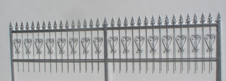 Gartenzaun Metall Schmiedeeisen Eisenzaun Zaun Zäune Amori-Z100
