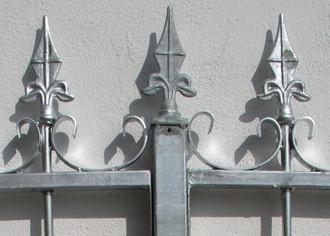 Gartenzaun Metall Schmiedeeisen Eisenzaun Zaun Amori-Z100/200 Feuer Verzinkt – Bild 7
