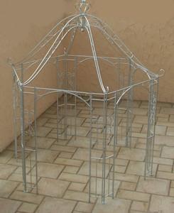 Pavillion Metall Pavillon Pavilion Gartenlaube Schmiedeeisen Romanco Eisen Zink – Bild 3