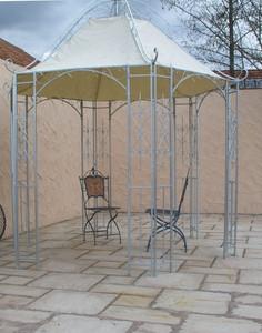 Pavillion Metall Pavillon Pavilion Gartenlaube Schmiedeeisen Romanco Eisen Zink – Bild 1