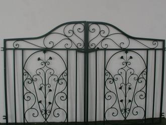 Traumhaft Gartentür Gartentor Tor Otello Verzinkt Grün pulverbeschichtet – Bild 1