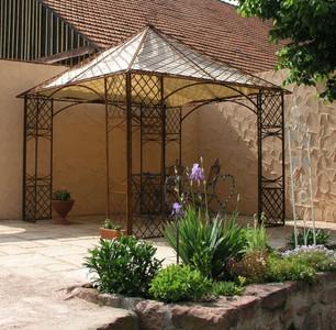 Pavillion Metall Pavillon Pavilion Laube Schmiedeeisen Modena Roh Rost Gross 280 – Bild 1