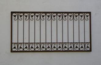 Schmiedeeisen Zaun Zäune Rankzaun Antik Eisen Monaco-Z80/200 Rost – Bild 1