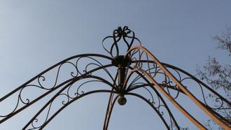 Pavillion Metall Pavillon Pavilion Laube Schmiedeeisen Rondella Rost rund 350 cm – Bild 4