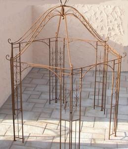 Pavillion Metall Pavillon Pavilion Laube Schmiedeeisen Rondella Rost rund 350 cm – Bild 1