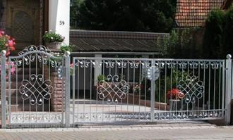 Gartentor Hoftor Tor Metall Schmiedeeisen Monaco-GFT500/120 Verzinkt Feuerverzinkt  – Bild 3