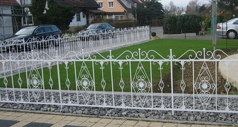 gartenzaun metall verzinkt, schmiedeeisen zaun rankzaun vitoria-z 190 cm verzinkt | ebay, Design ideen