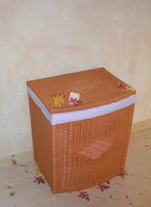 Rattan  Wäschekorb Samantha1 53cm  Terracotta Orange – Bild 1