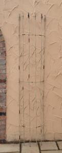 Rankgitter Spalier Rankhilfe Fallrohr halbrund Pisa shabby Antik weiss – Bild 1