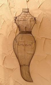 Relief Torso Eisen Wanddeko Wanddekoration  Lisa Shabby White Antik Weiss – Bild 1