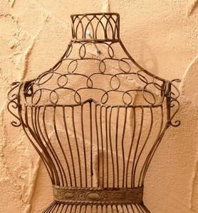 Relief Torso Eisen Wanddeko Wanddekoration  Lisa Shabby White Antik Weiss – Bild 4