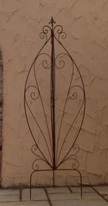 Landhaus Rankgitter Spalier Rankwand Obelisk Cervio Rost Clematis Kletterrose – Bild 1