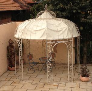 Pavillion Metall Pavillon Pavilion Laube Schmiedeeisen Rondo Weiss Antik – Bild 1