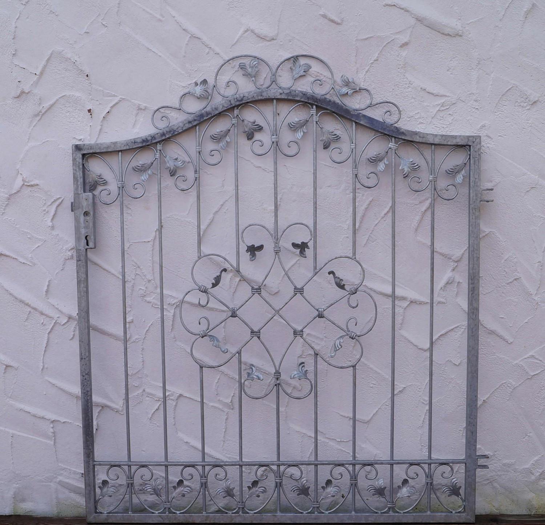 Porte du jardin porte porte fer forgé métal monaco-gt124/100 ...