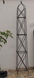 Moderner Rankstab Rankhilfe Obelisk Rosenstab Clematis Alina XXL 260 ROST Riesig – Bild 4