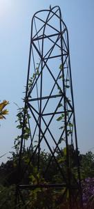 Moderner Rankstab Rankhilfe Pfosten Obelisk Rosen Clematis Alina XXL 260 Schwarz – Bild 1