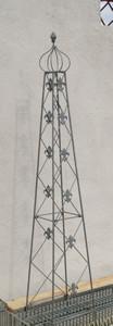 Rankstab Rankhilfe Rank Pfosten Obelisk Cornwall FeuerVerzinkt Zink – Bild 1