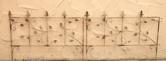 Beetbegrenzung Beeteinfassung BeetZaun Zaun Fiore 80 Shabby weiss Antik – Bild 1