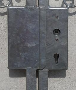 Gartentor Hoftor Tor Metall Eisen Monaco-GT300/30S Schloss  Feuer Verzinkt 15 Jahre Garantie – Bild 4