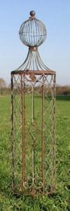 Rankstab Rankhilfe Rankgitter Rankgitter Garten Obelisk Wells  135 ROST Clematis – Bild 1