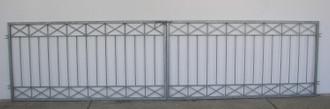 Gartentor Hoftor Tor Crossline-FT400/100R Riegel Verzinkt – Bild 1