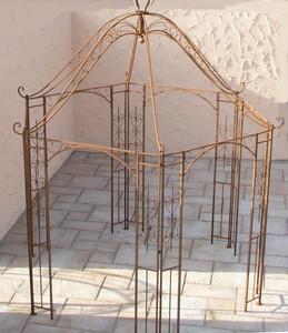 Pavillion Metall Pavillon Pavilion Gartenlaube Schmiedeeisen Romanco Eisen Rost – Bild 2