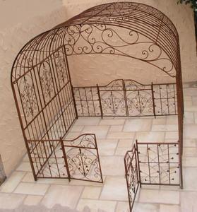 Pavillion Metall Pavillon Pavilion Laube Schmiedeeisen Sienna verzinkt Gross 280 – Bild 2