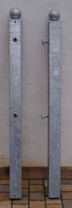 Metall Stahl Torpfosten Stahlpfosten Monaco 80/3/2000 Kugel verzinkt – Bild 4