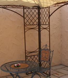 Pavillion Metall Pavillon Pavilion Laube Schmiedeeisen Modena Weiß Antik Gross 280 – Bild 10