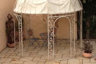Pavillion Metall Pavillon Pavilion Laube Schmiedeeisen Rondo Braun – Bild 4