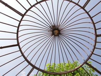 Pavillion Metall Pavillon Pavilion Laube Schmiedeeisen Rondo Braun – Bild 5