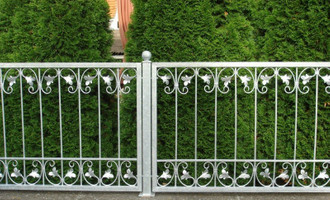 Schmiedeeisen Eisen Zaun Gartenzaun Metall Monaco-Z80/200 Verzinkt 200 cm FLEX – Bild 2