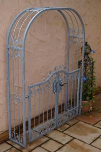 Tor Gartentür Pforte Rosenbogen mit Tür Monaco-RBGT-RBS 140/200 Schloss Verzinkt – Bild 4