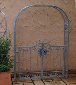 Tor Gartentür Pforte Rosenbogen mit Tür Monaco-RBGT-RBS 140/200 Schloss Verzinkt – Bild 5