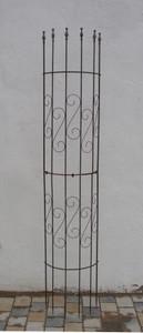 Rankgitter Spalier Rankhilfe Fallrohr Pisa XXL Clematis Roh Rost halbrund 275cm – Bild 1
