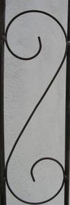 Rankgitter Spalier Rankhilfe Fallrohr Pisa XXL Clematis Roh Rost halbrund 275cm – Bild 3