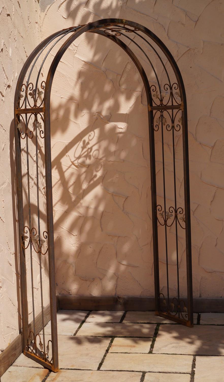 Massiv rundbogen rosenbogen monaco rb 120 220 roh rost for Gartendekoration aus rost