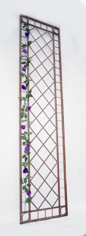 metall eisen rankgitter spalier rankhilfe wandgitter meran 60 240 rost roh gartengestaltung. Black Bedroom Furniture Sets. Home Design Ideas