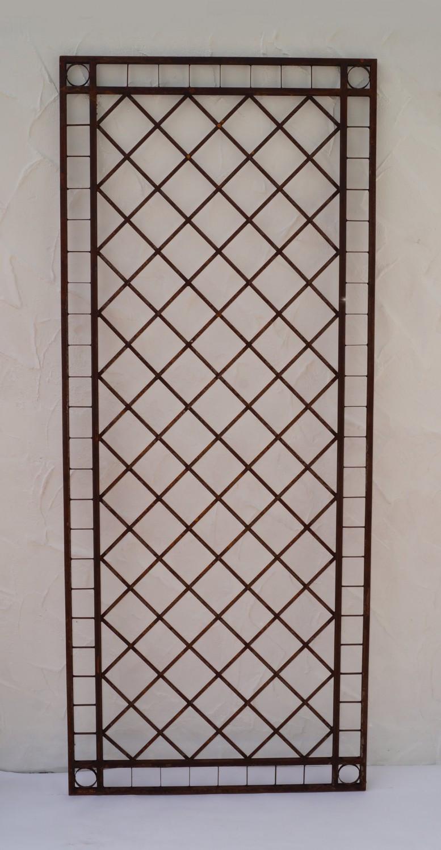 metall eisen spalier rankgitter rankhilfe wandgitter meran 120 240 rost xxl gartengestaltung. Black Bedroom Furniture Sets. Home Design Ideas