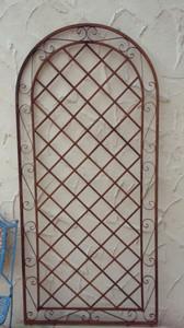 Rankgitter Spalier Wand Rankhilfe Sichtschutz Metall Provence XXL ROST 120/240cm – Bild 2