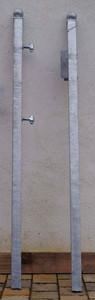 Stahl Pfosten Pfostenset Pforte Bachus-GT100R-Version 100 40 1500 Kappe Feuerverzinkt – Bild 2