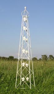Rankstab Rankhilfe Rank Pfosten Obelisk Pflanzenstütze Cornwall weiss 2-er Set – Bild 5