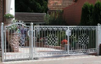 Eingangsanlage Gartentor Hoftor Tor Metall Schmiedeeisen Monaco-GFT500/100 Verzinkt PREMIUM Einfahrtstor 500 x 100 cm – Bild 1