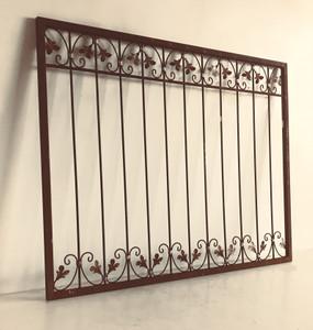 Schmiedeeisen Zaun Antik Eisen Gartenzaun Metall Monaco-Z60/200 roh Rost 200 cm – Bild 1