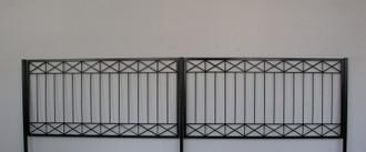 10 Mtr Metall Zaun Zäune Zaunelement modern Crossline-Z120/200 Verzinkt  Pfosten – Bild 1