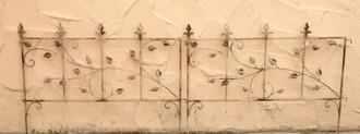 Beetbegrenzung Beeteinfassung BeetZaun Zaun Fiore XL 100 Shabby weiss Antik – Bild 1