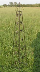 Rankstab Rankhilfe Spalier Rank Obelisk Cornwall Schwarz 2-er Set 2 Stck. – Bild 5