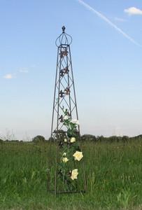 Rankstab Rankhilfe Spalier Rank Obelisk Cornwall Schwarz 2-er Set 2 Stck. – Bild 7
