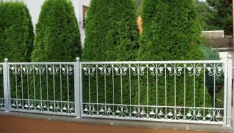 1 laufender Meter Schmiedeeisen Gartenzaun Zaun Metall Monaco-Z120/200 verzinkt – Bild 1